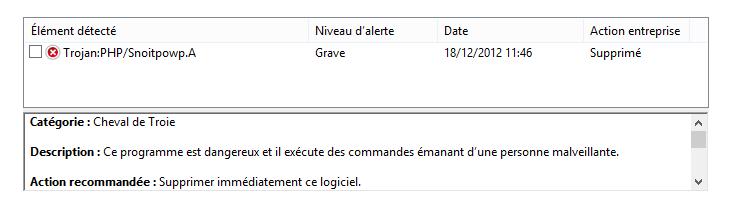 Premier virus sous Windows 8